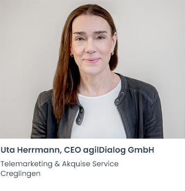 Uta Herrmann agilDialog Telemarketing Firma Creglingen