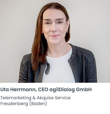 Uta Herrmann agilDialog Telemarketing Firma Freudenberg (Baden)