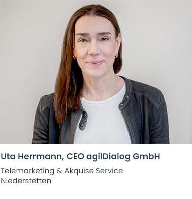 Uta Herrmann agilDialog Telemarketing Firma Niederstetten